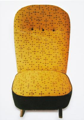 Vintage Artifort model 1001 Congo circa 1952 van Theo Ruth, in stof Small Dot van Maharam (via Kvadrat)